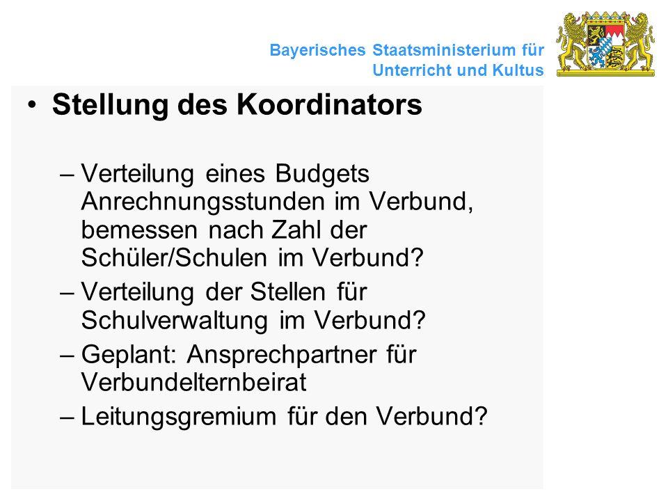 Stellung des Koordinators