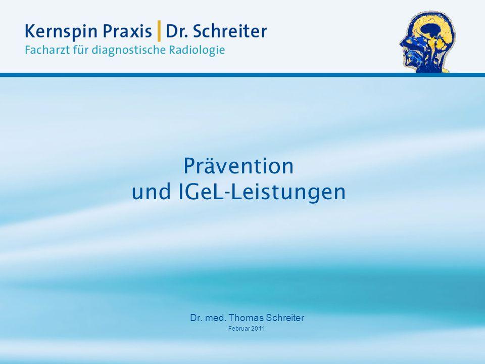 Prävention und IGeL-Leistungen