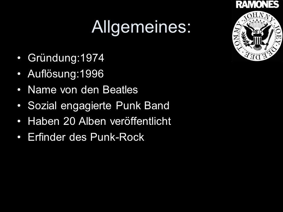 Allgemeines: Gründung:1974 Auflösung:1996 Name von den Beatles