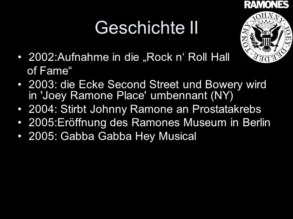 """Geschichte II 2002:Aufnahme in die """"Rock n' Roll Hall of Fame"""