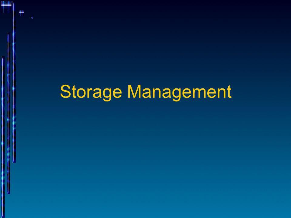 Storage Management