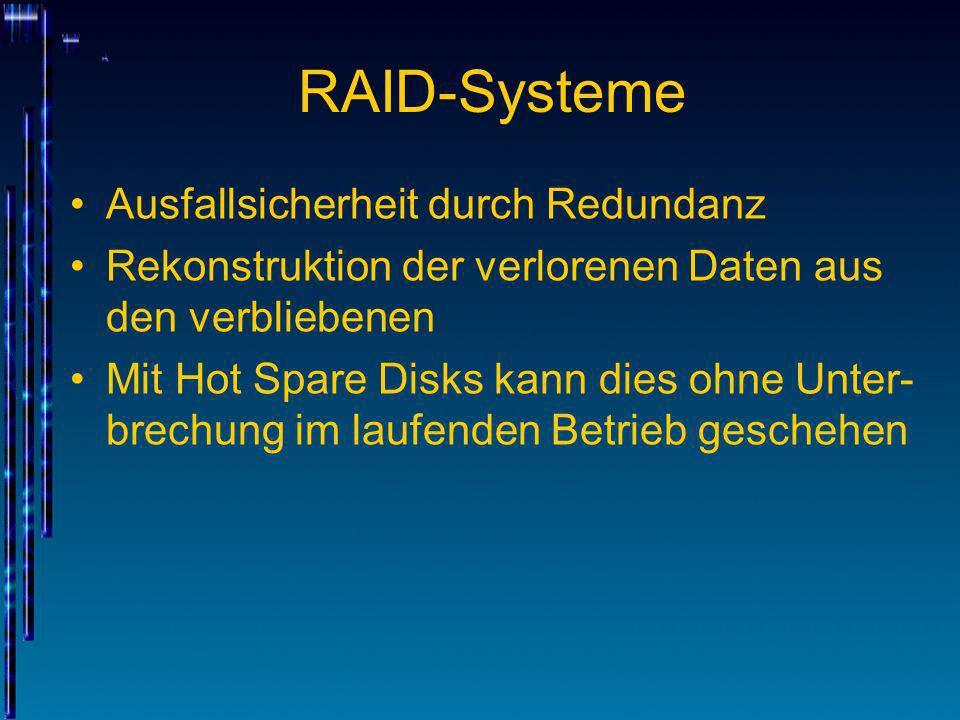 RAID-Systeme Ausfallsicherheit durch Redundanz