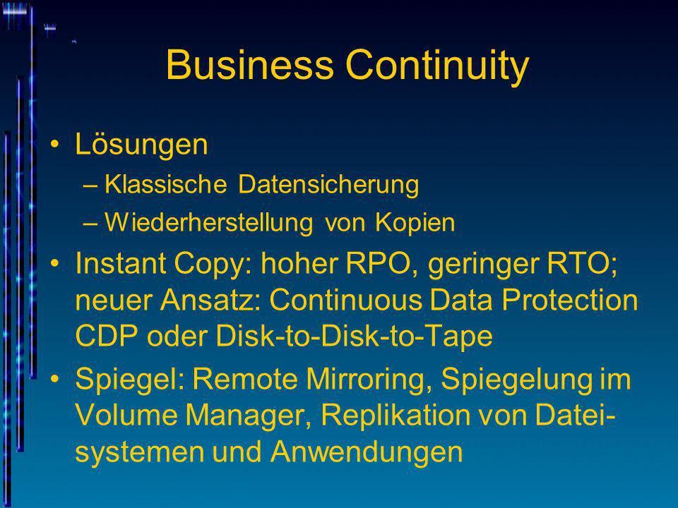 Business Continuity Lösungen