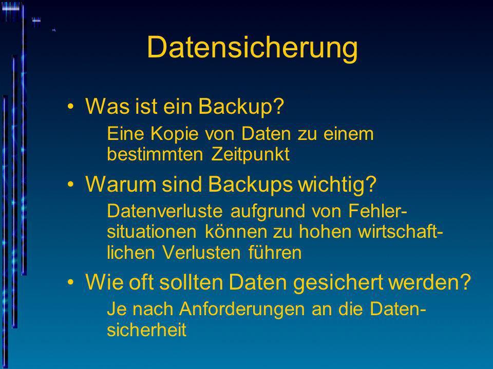 Datensicherung Was ist ein Backup Warum sind Backups wichtig