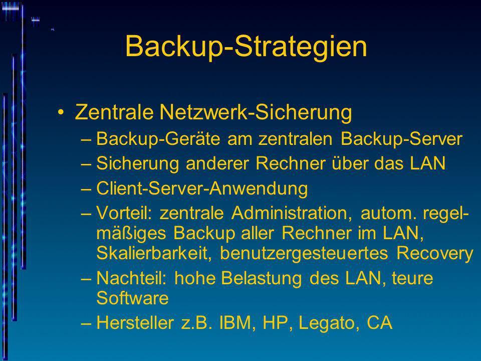 Backup-Strategien Zentrale Netzwerk-Sicherung