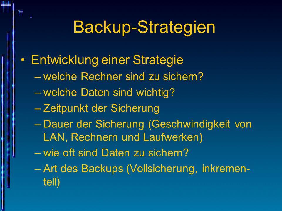 Backup-Strategien Entwicklung einer Strategie