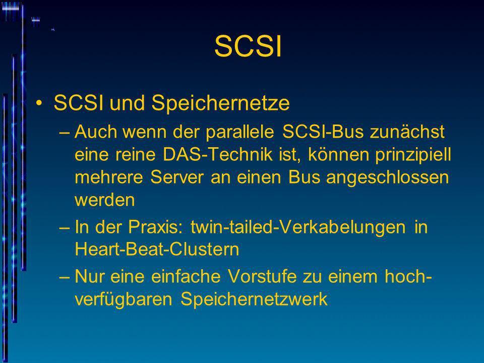 SCSI SCSI und Speichernetze