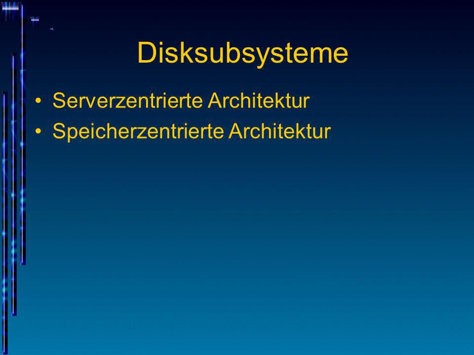 Disksubsysteme Serverzentrierte Architektur