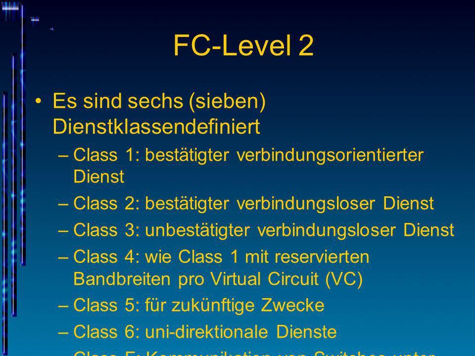 FC-Level 2 Es sind sechs (sieben) Dienstklassendefiniert