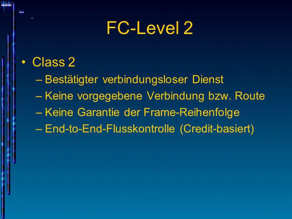 FC-Level 2 Class 2 Bestätigter verbindungsloser Dienst