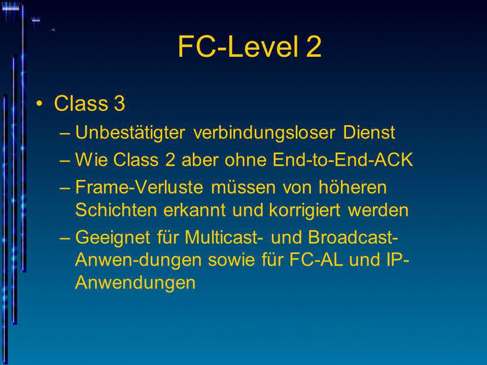 FC-Level 2 Class 3 Unbestätigter verbindungsloser Dienst