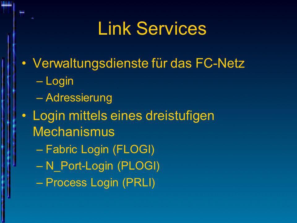 Link Services Verwaltungsdienste für das FC-Netz