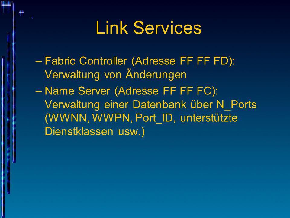 Link ServicesFabric Controller (Adresse FF FF FD): Verwaltung von Änderungen.