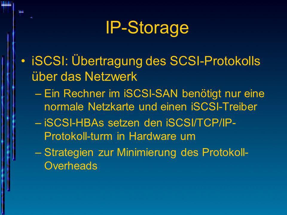 IP-Storage iSCSI: Übertragung des SCSI-Protokolls über das Netzwerk