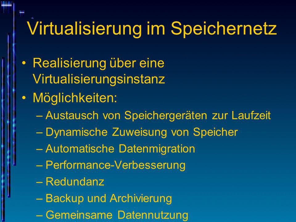 Virtualisierung im Speichernetz