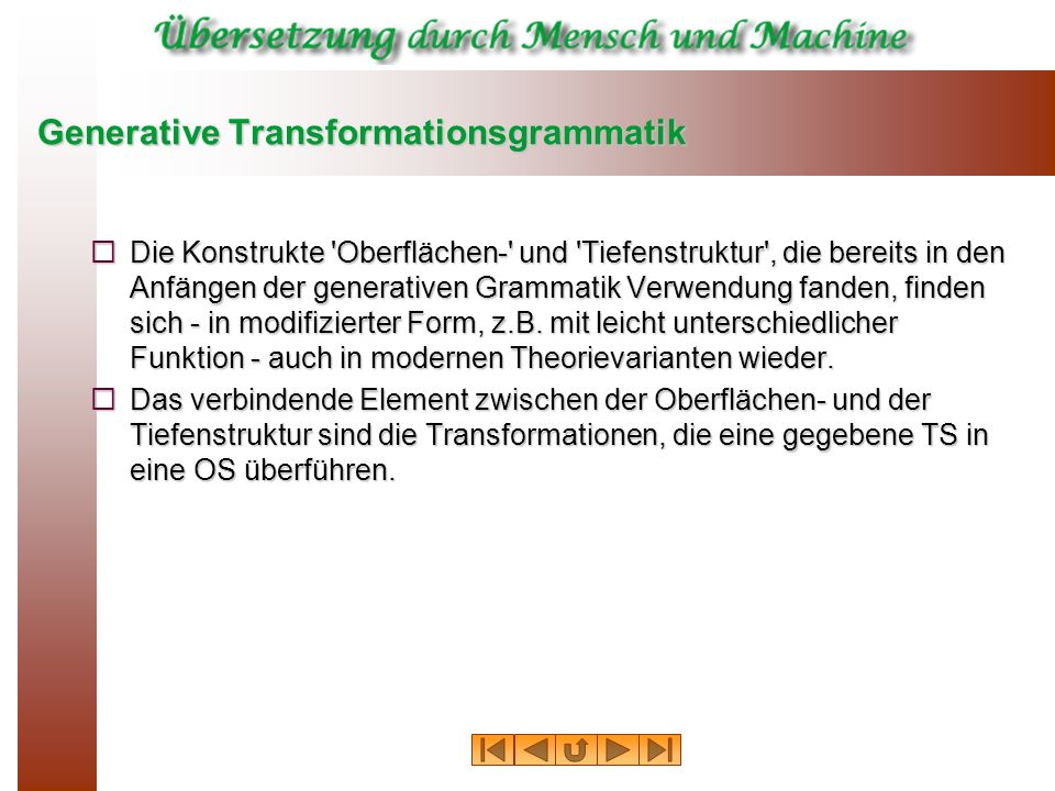 Generative Transformationsgrammatik