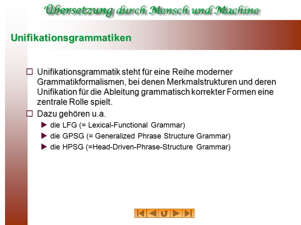 Unifikationsgrammatiken