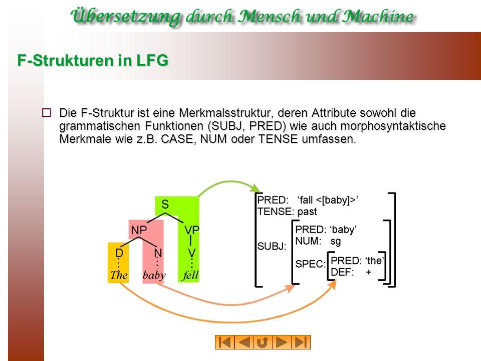 F-Strukturen in LFG