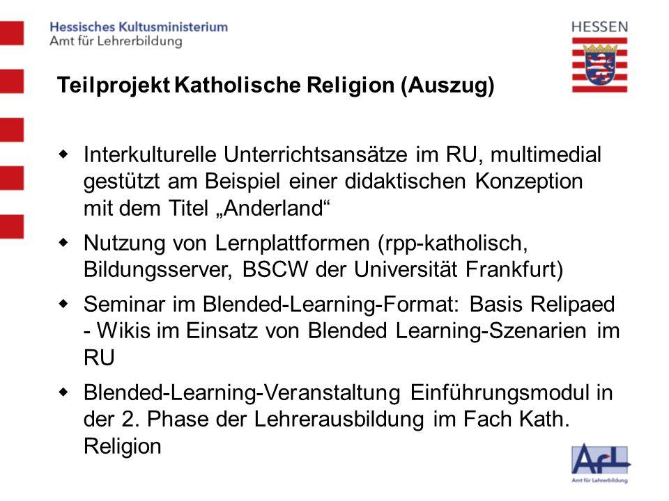 Teilprojekt Katholische Religion (Auszug)