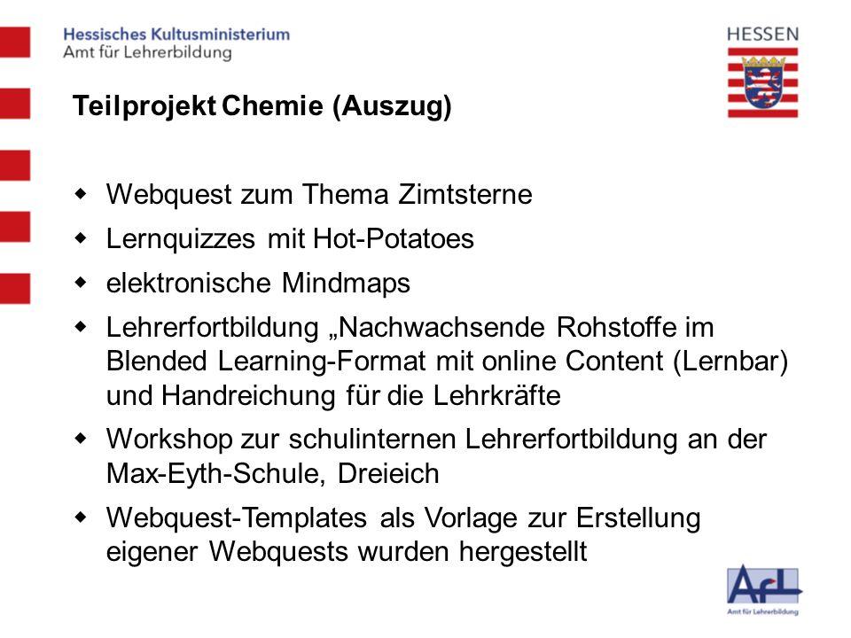 Teilprojekt Chemie (Auszug)