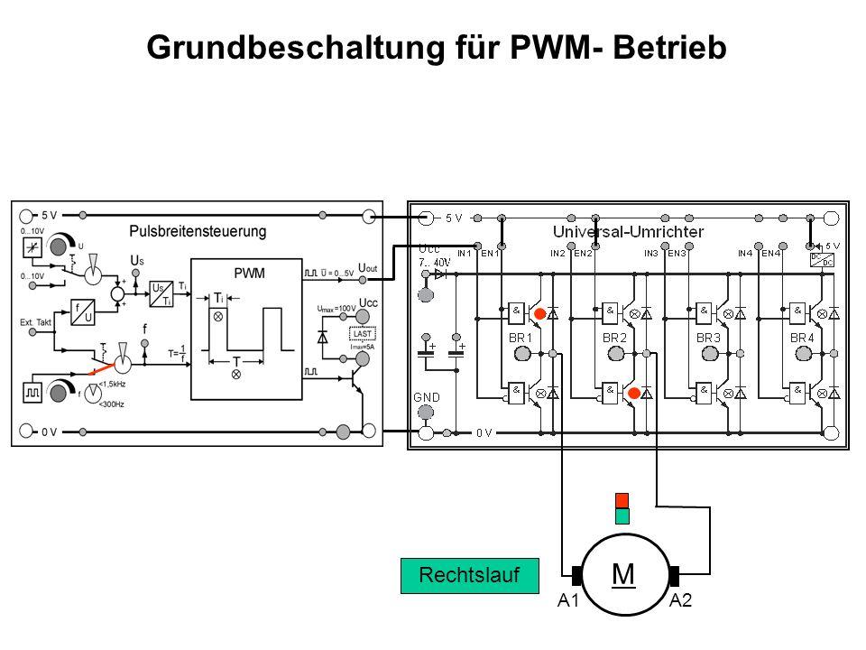 Grundbeschaltung für PWM- Betrieb