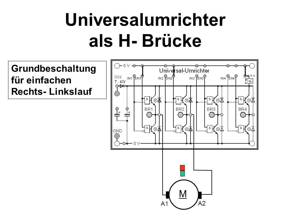 Universalumrichter als H- Brücke