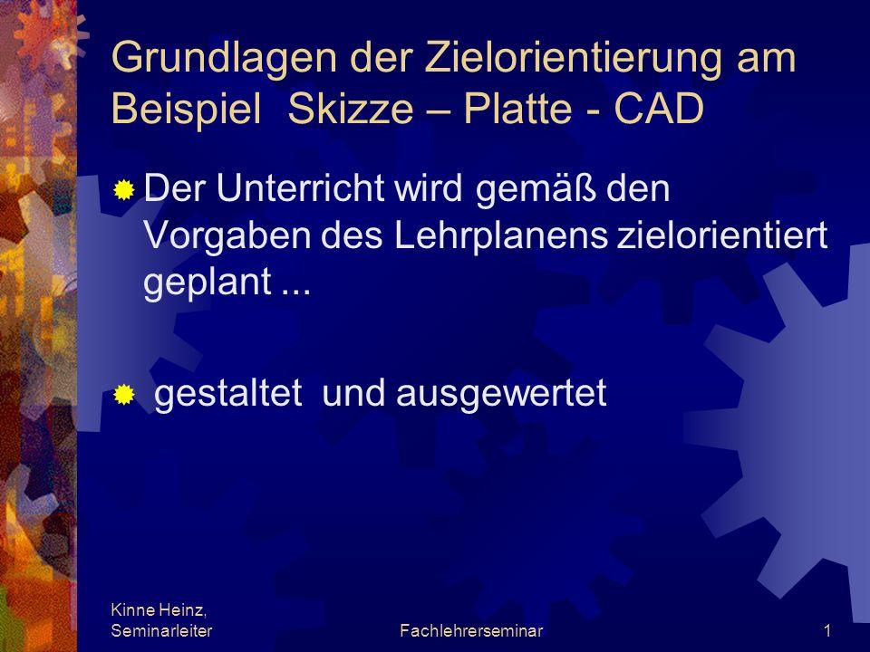 Grundlagen der Zielorientierung am Beispiel Skizze – Platte - CAD