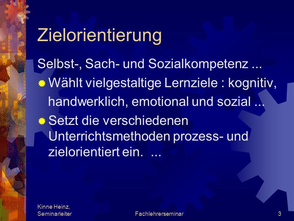 Zielorientierung Selbst-, Sach- und Sozialkompetenz ...