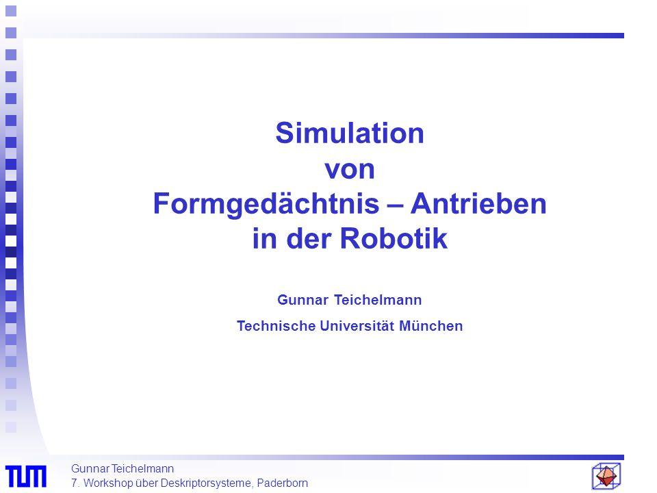 Simulation von Formgedächtnis – Antrieben in der Robotik