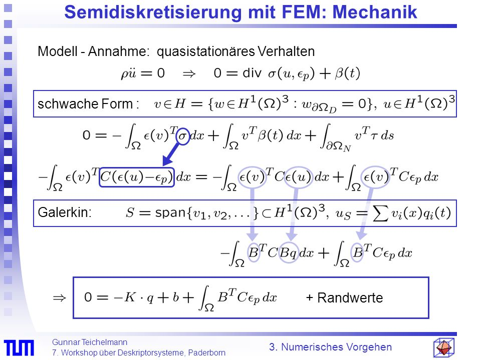 Semidiskretisierung mit FEM: Mechanik