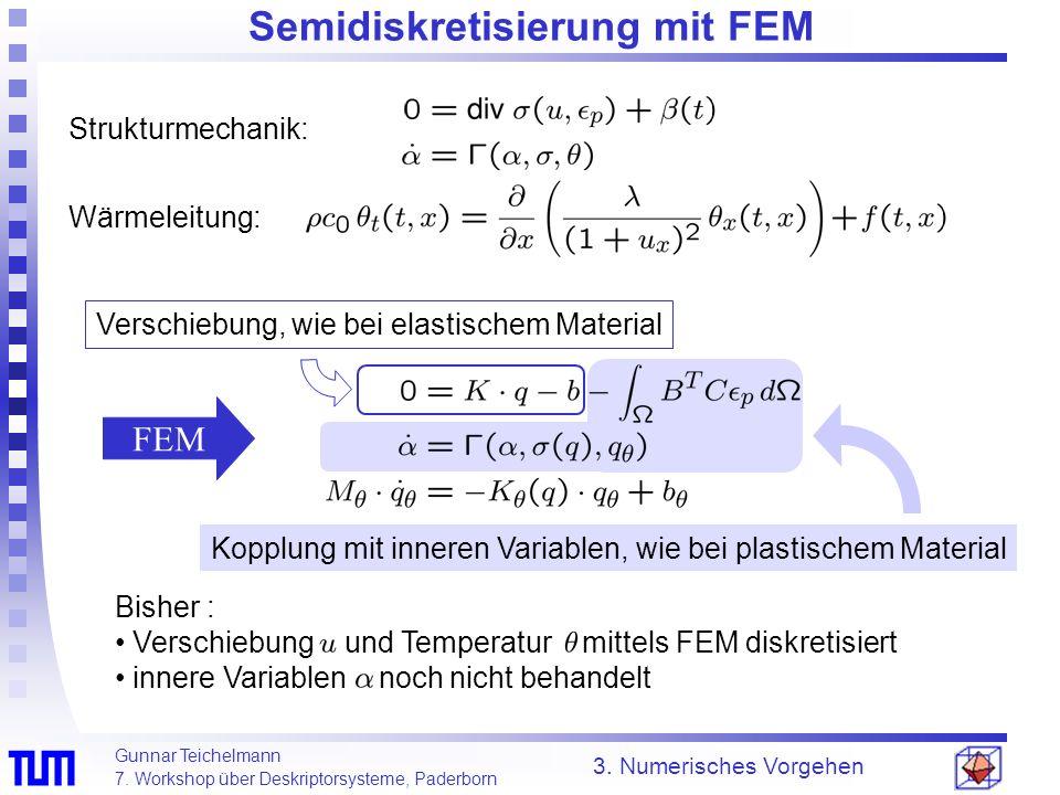 Semidiskretisierung mit FEM