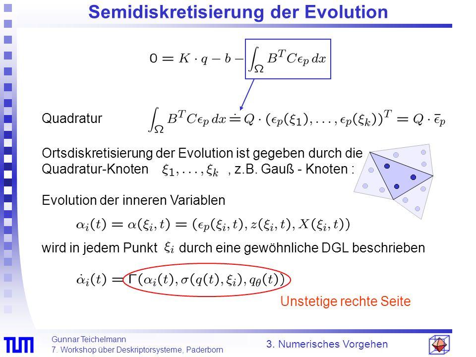 Semidiskretisierung der Evolution