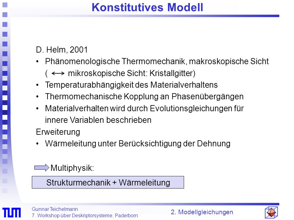 Konstitutives Modell D. Helm, 2001