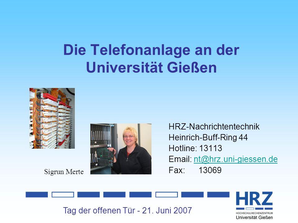 Die Telefonanlage an der Universität Gießen