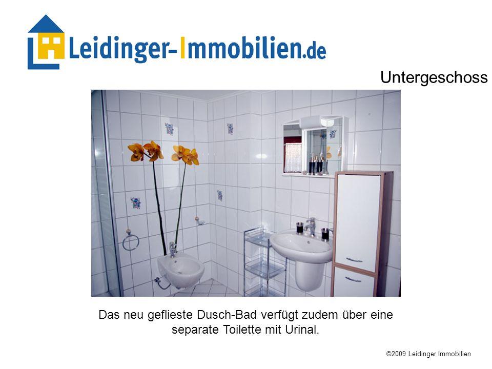 UntergeschossDas neu geflieste Dusch-Bad verfügt zudem über eine separate Toilette mit Urinal.
