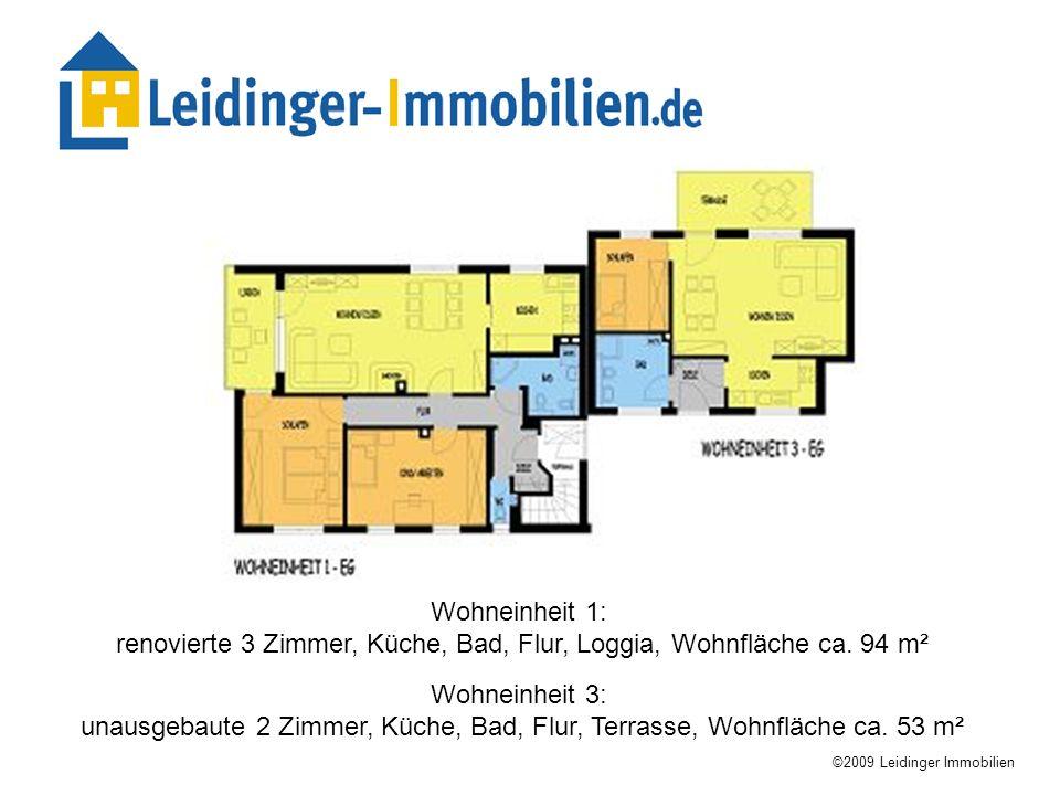 renovierte 3 Zimmer, Küche, Bad, Flur, Loggia, Wohnfläche ca. 94 m²