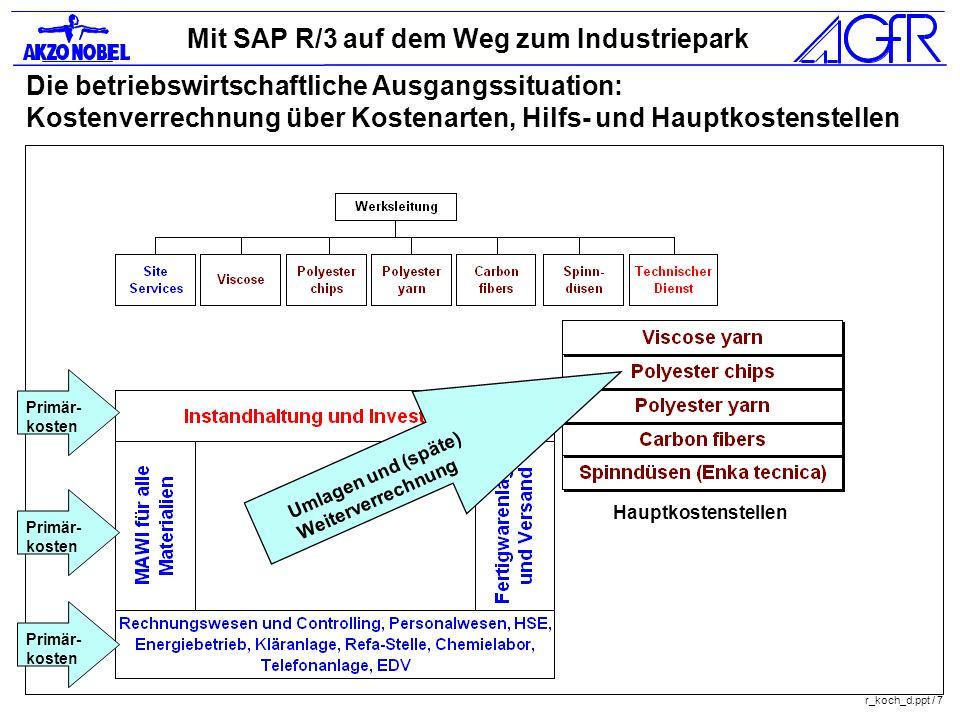 Die betriebswirtschaftliche Ausgangssituation: Kostenverrechnung über Kostenarten, Hilfs- und Hauptkostenstellen