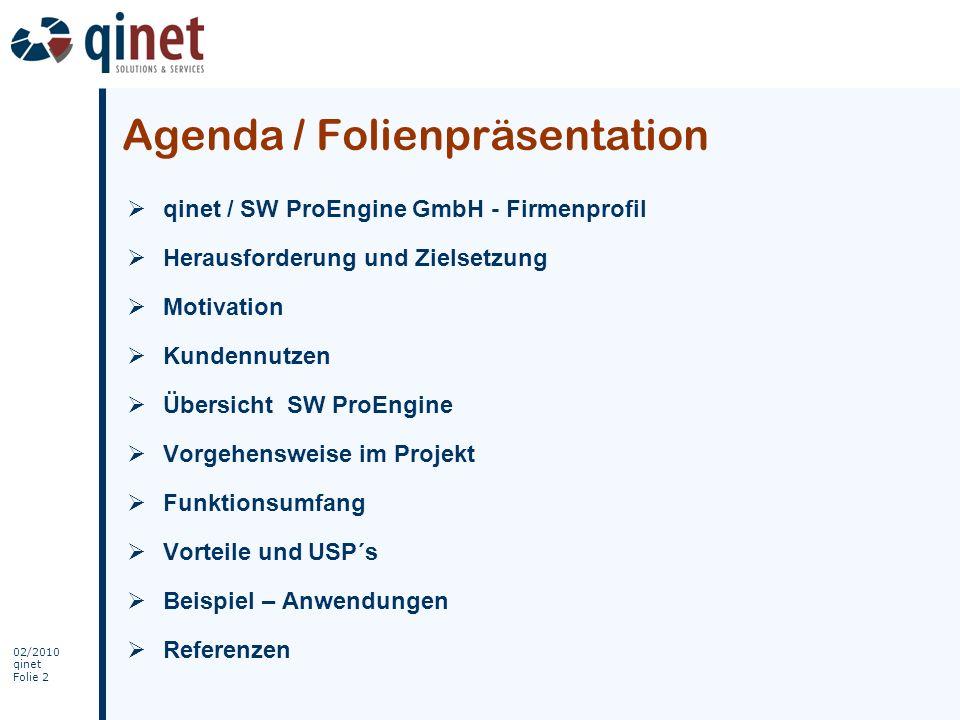 Agenda / Folienpräsentation