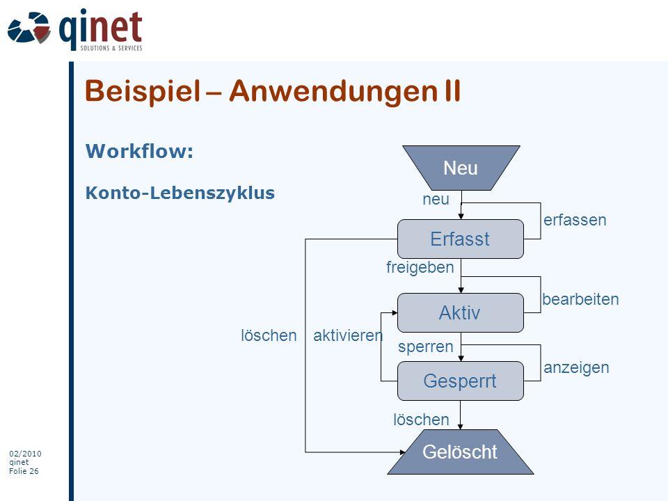 Beispiel – Anwendungen II