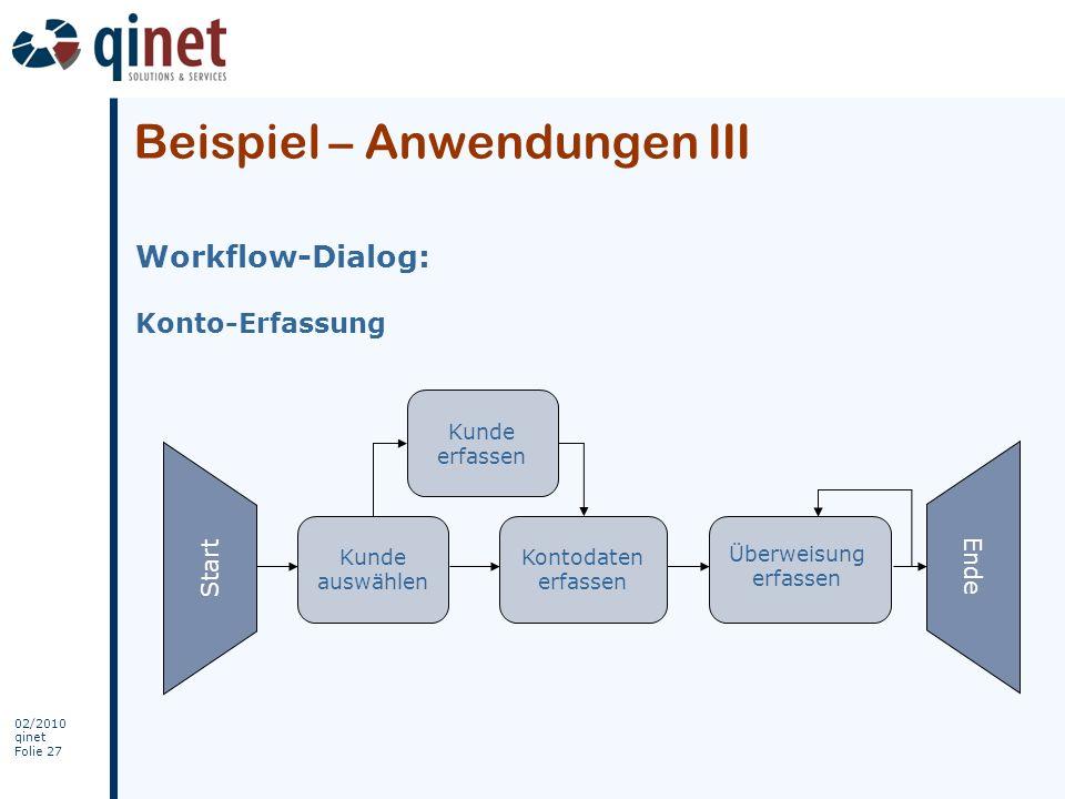 Beispiel – Anwendungen III