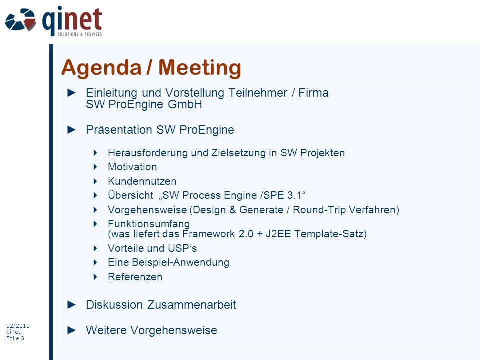 Agenda / MeetingEinleitung und Vorstellung Teilnehmer / Firma SW ProEngine GmbH. Präsentation SW ProEngine.