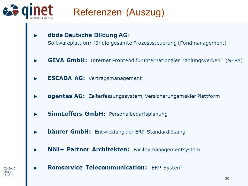 Referenzen (Auszug) dbde Deutsche Bildung AG: Softwareplattform für die gesamte Prozesssteuerung (Fondmanagement)