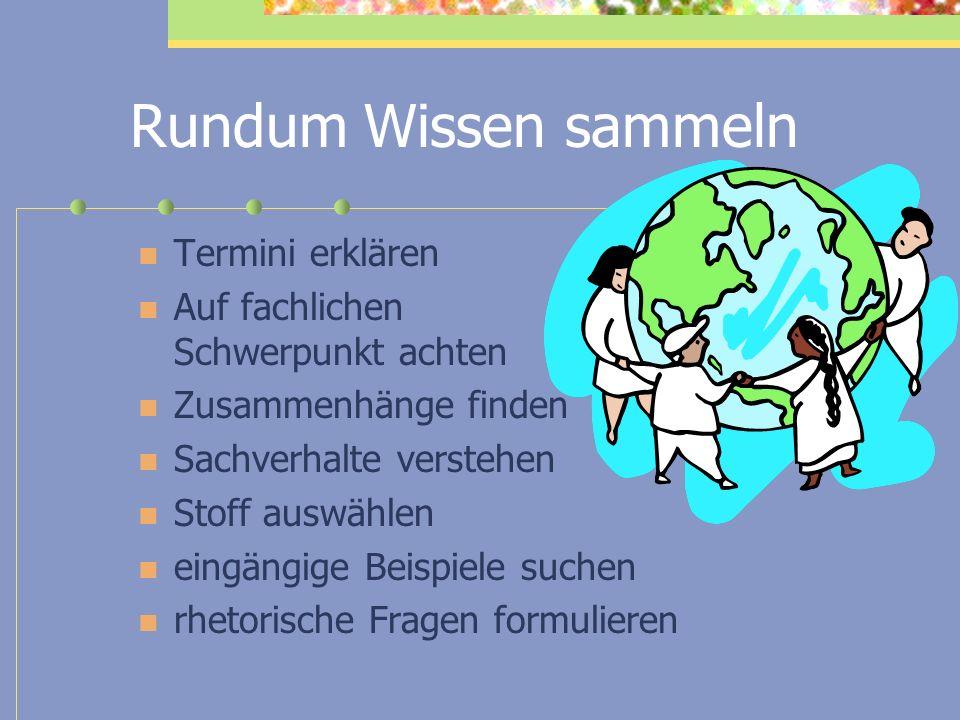 Rundum Wissen sammeln Termini erklären