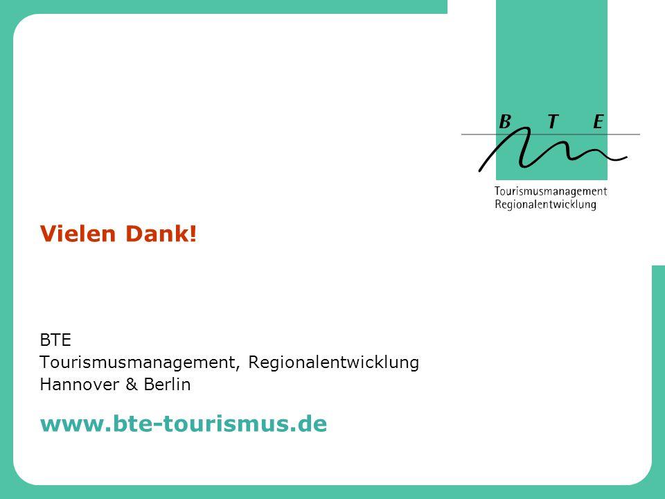 BTE Tourismusmanagement, Regionalentwicklung Hannover & Berlin