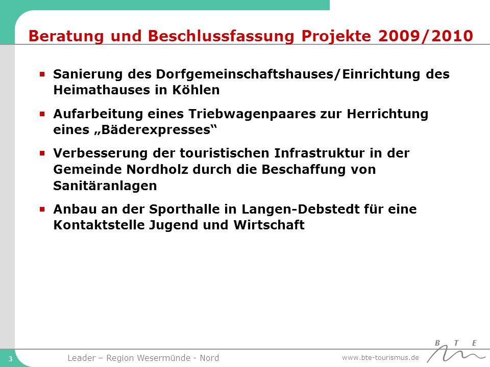 Beratung und Beschlussfassung Projekte 2009/2010