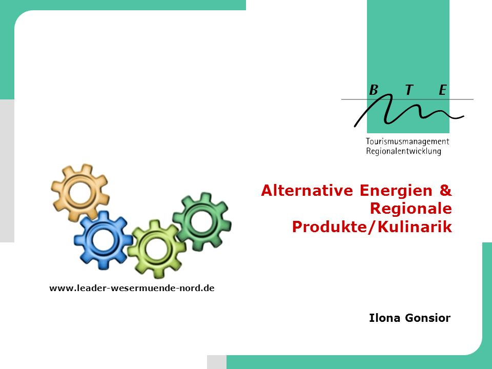 Alternative Energien & Regionale Produkte/Kulinarik