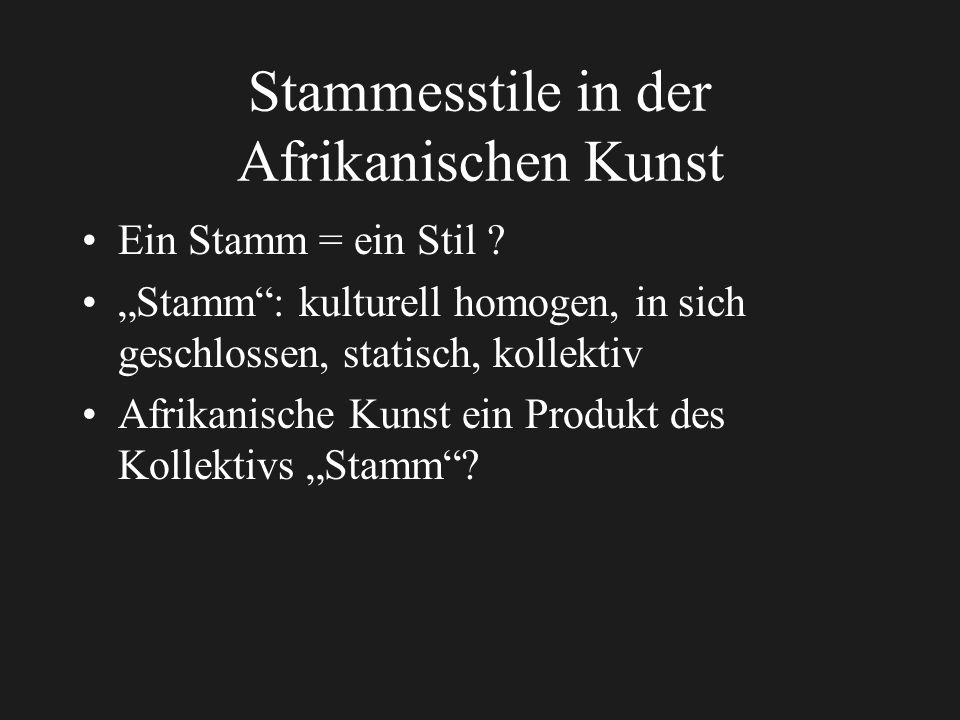 Stammesstile in der Afrikanischen Kunst