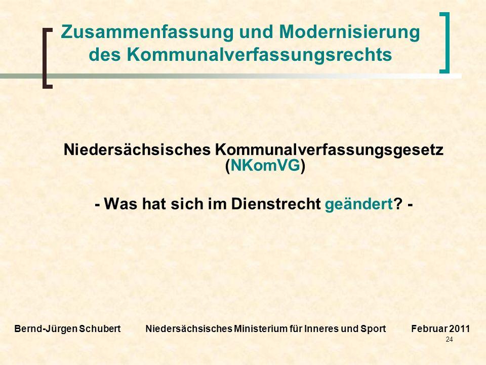 Zusammenfassung und Modernisierung des Kommunalverfassungsrechts