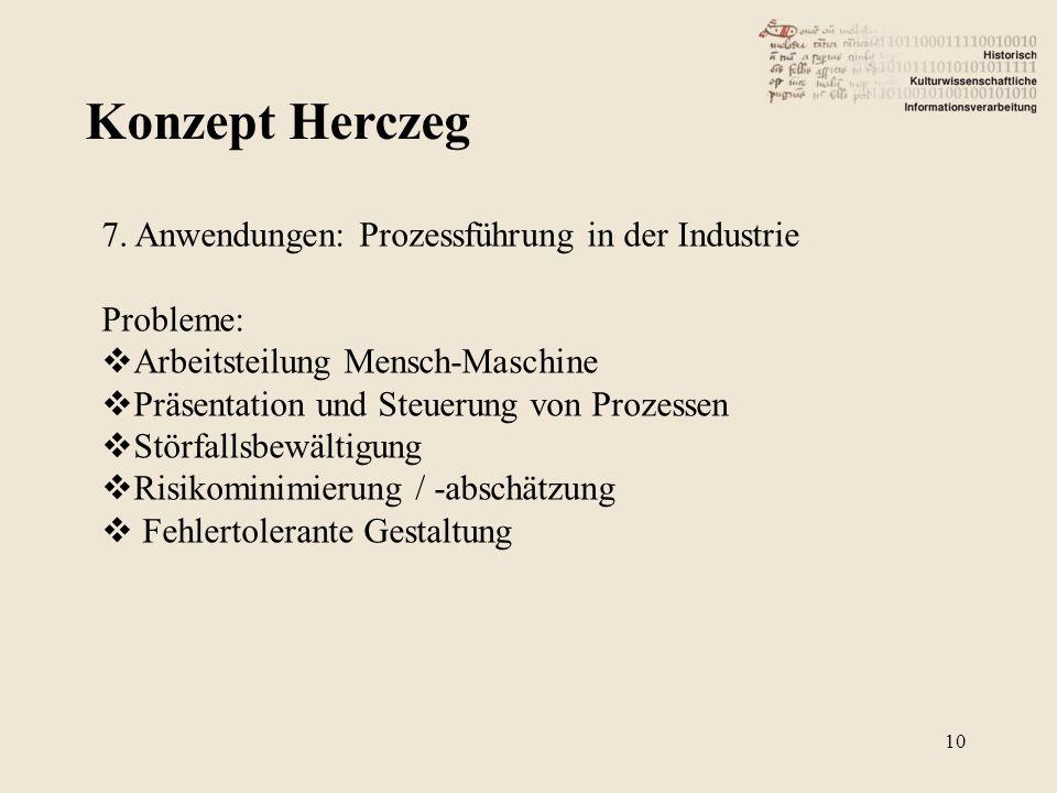 Konzept Herczeg 7. Anwendungen: Prozessführung in der Industrie