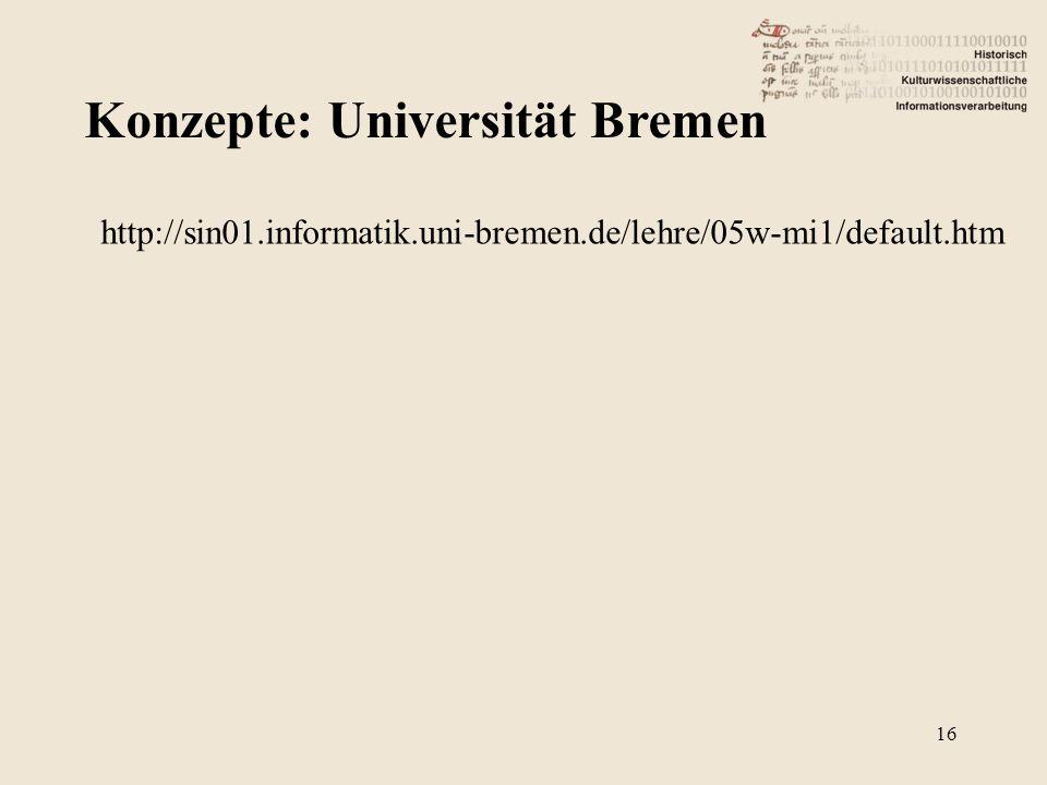 Konzepte: Universität Bremen